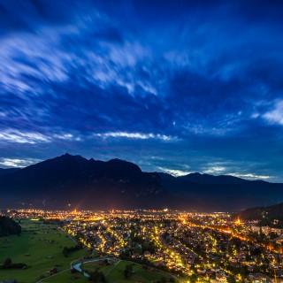 Garmisch-Partenkirchen am Abend