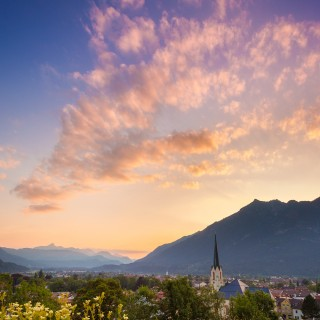 Sonnenuntergang über Partenkirchen