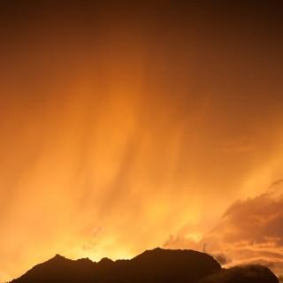 Abendrot über Garmisch-Partenkirchen