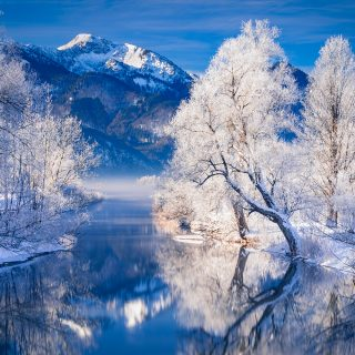 Kochelsee im Winter