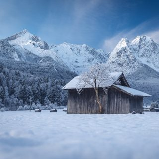 Hammersbacher Fußweg im Winter