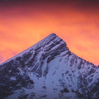 Abendrot über der Alpspitze